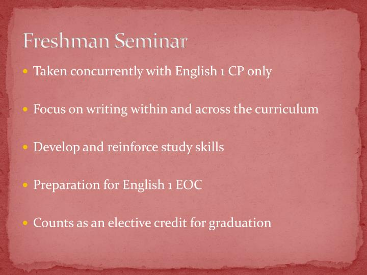 Freshman Seminar
