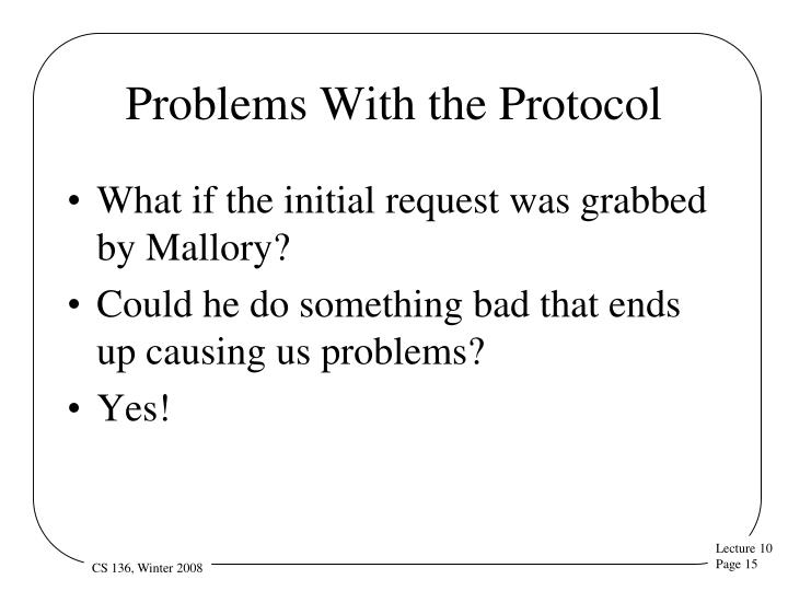 Problems With the Protocol