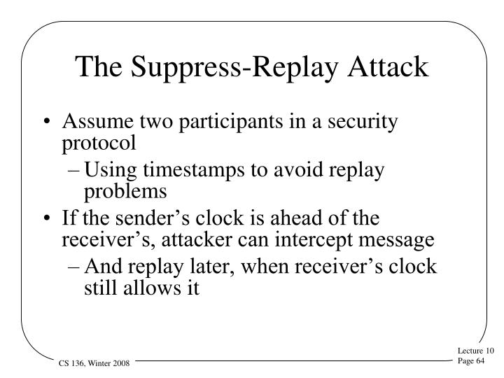 The Suppress-Replay Attack