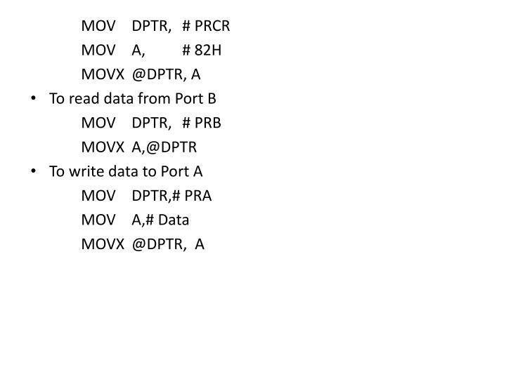 MOVDPTR,# PRCR