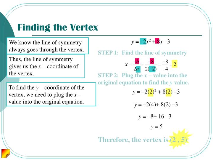 Finding the Vertex