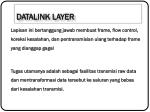 datalink layer