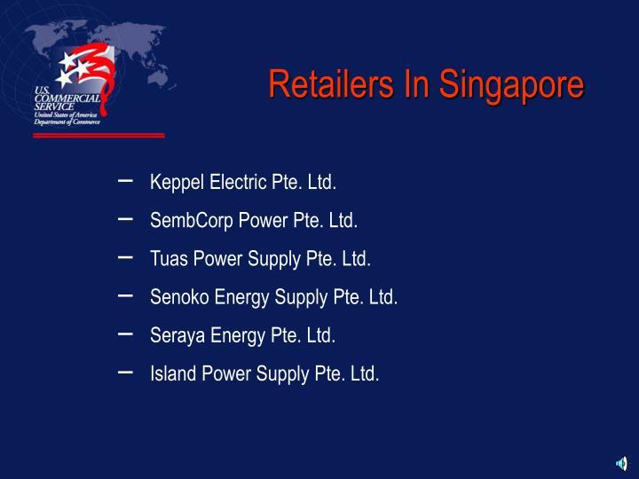 Retailers In Singapore