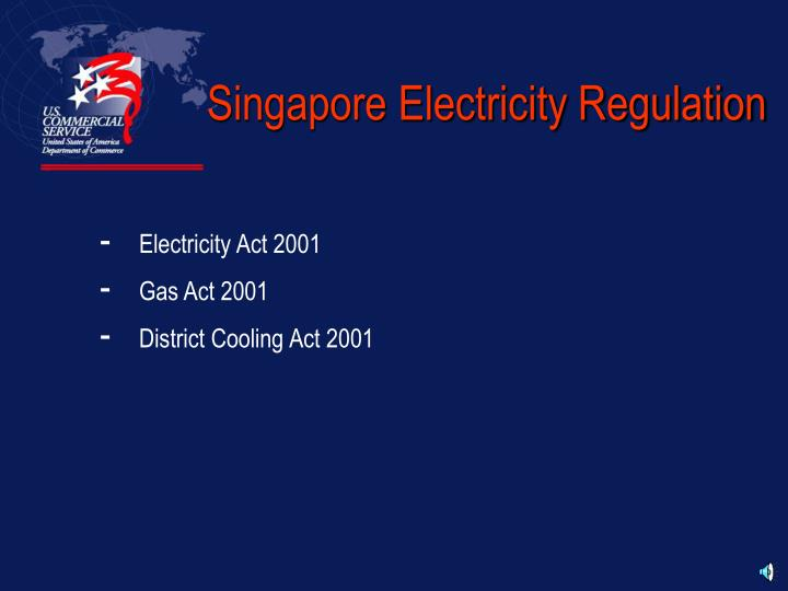 Singapore Electricity Regulation