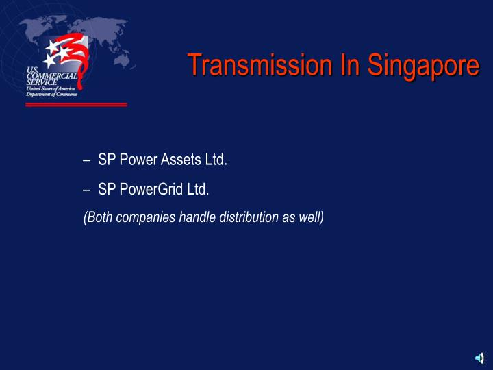 Transmission In Singapore