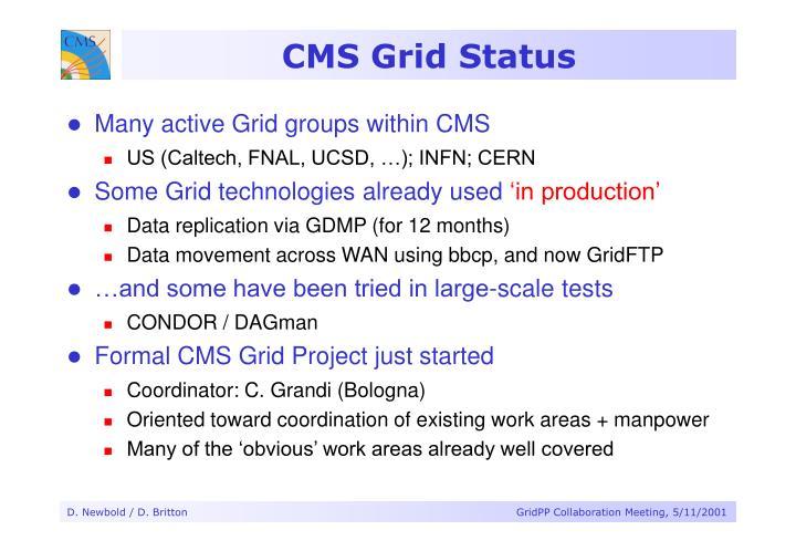 CMS Grid Status