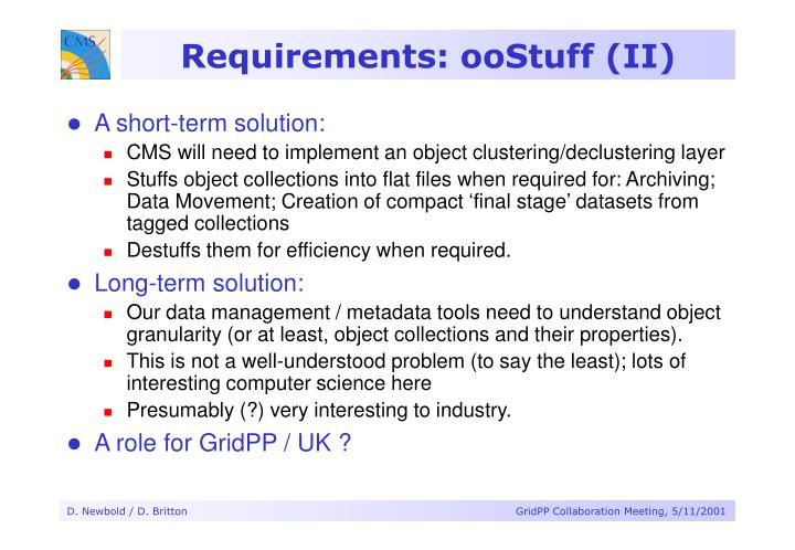 Requirements: ooStuff (II)