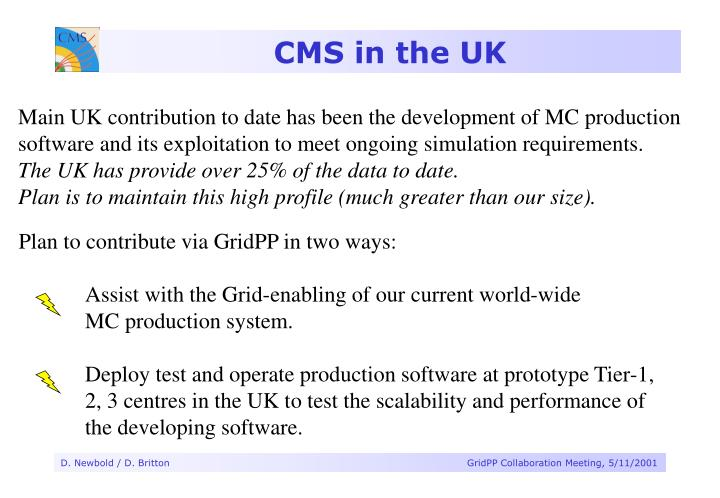 CMS in the UK