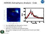 heroes astrophysics analysis crab