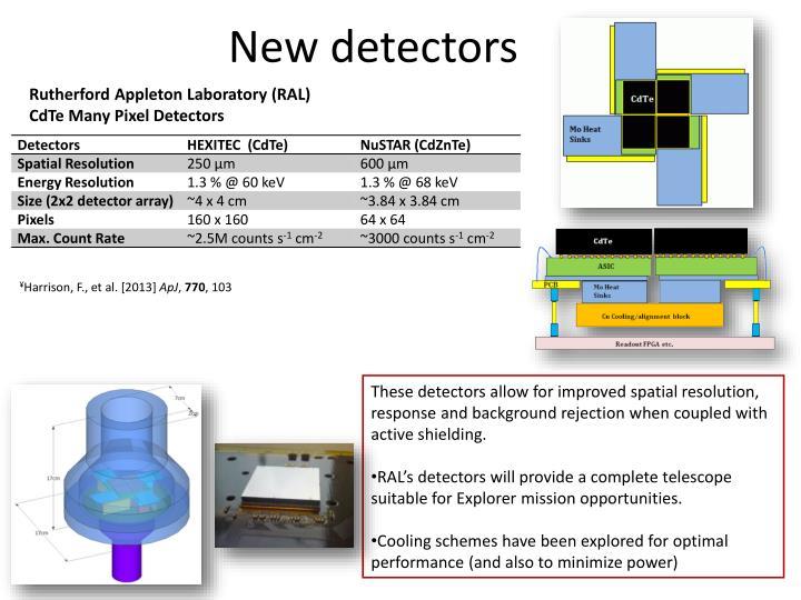 New detectors