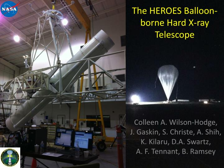 T he heroes balloon borne hard x ray telescope