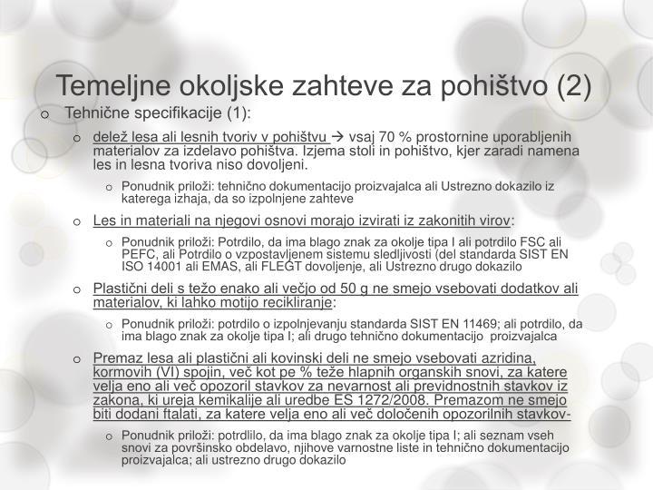 Temeljne okoljske zahteve za pohištvo (2)