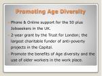 promoting age diversity