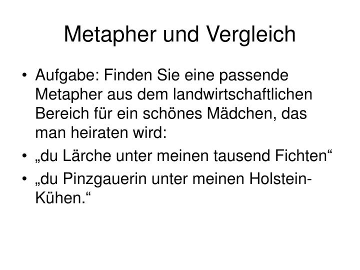 Metapher und Vergleich