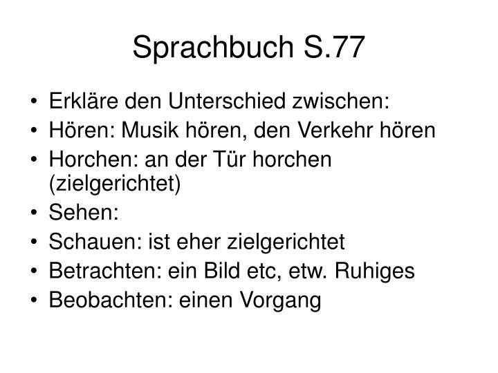 Sprachbuch S.77
