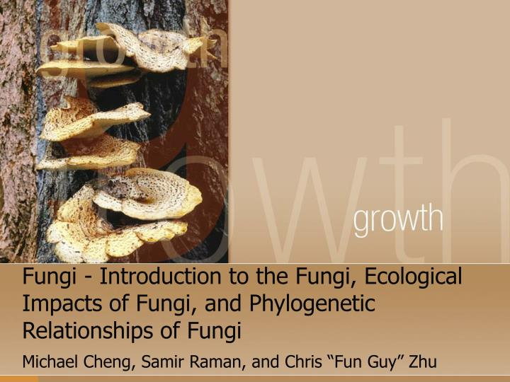 fungi introduction to the fungi ecological impacts of fungi and phylogenetic relationships of fungi