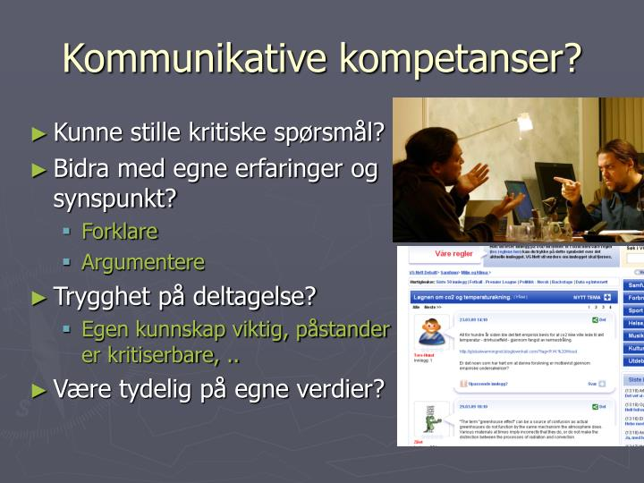 Kommunikative kompetanser?