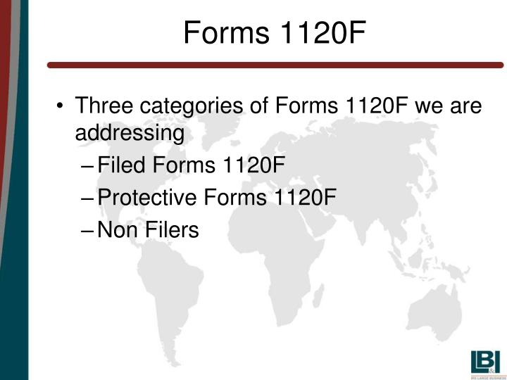 Forms 1120F