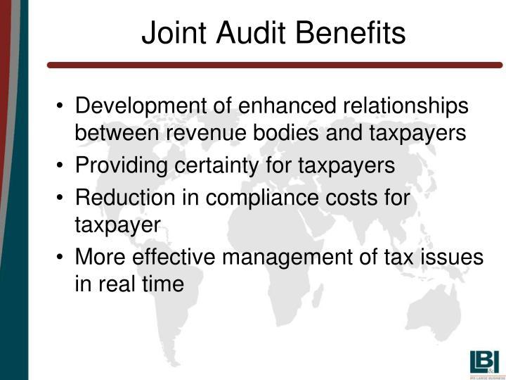 Joint Audit Benefits