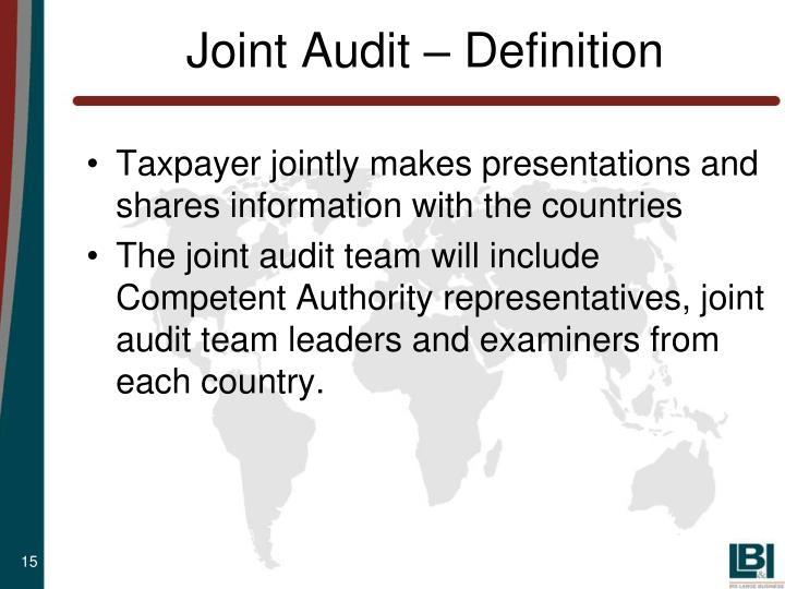 Joint Audit – Definition