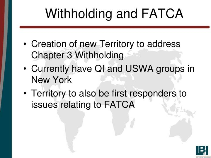 Withholding and FATCA