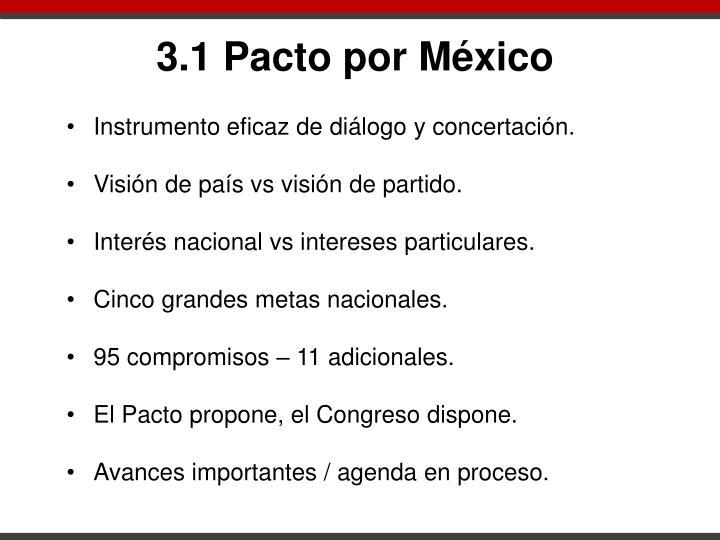 3.1 Pacto por México
