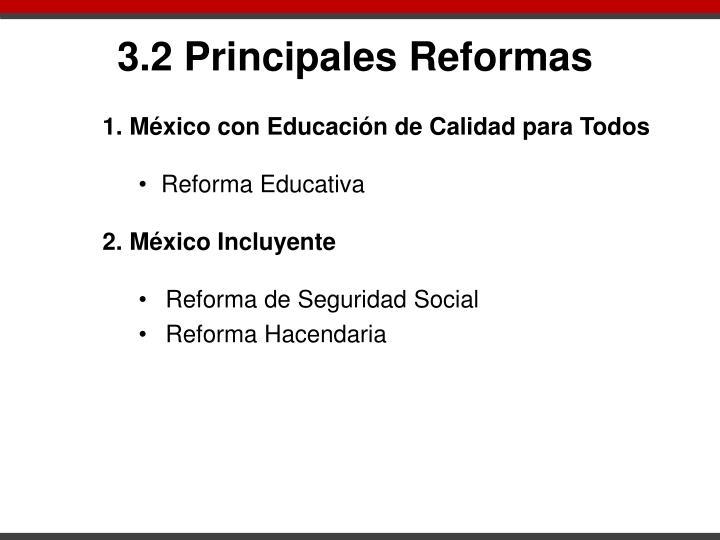 3.2 Principales Reformas