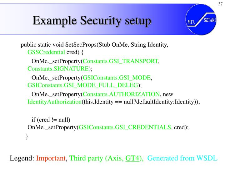 Example Security setup