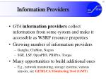 information providers