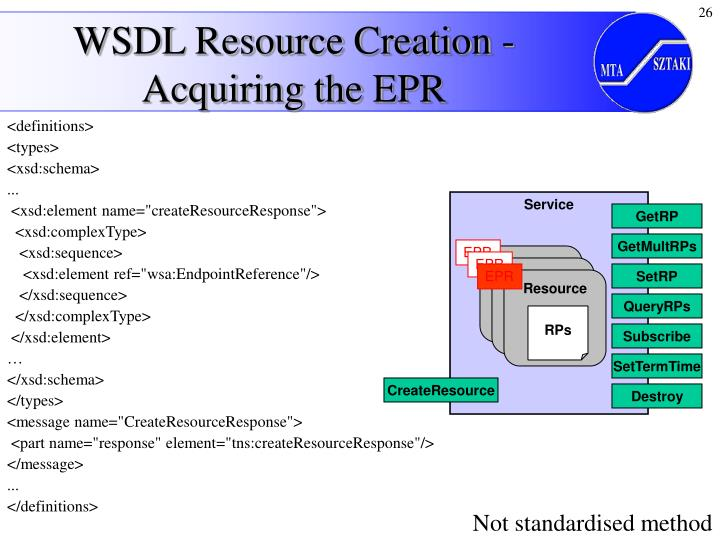 WSDL Resource Creation - Acquiring the EPR