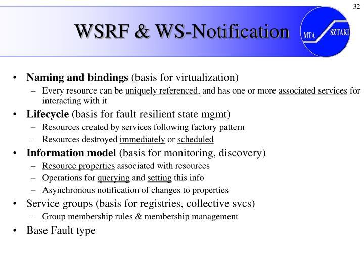 WSRF & WS-Notification