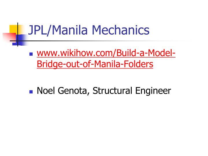 JPL/Manila Mechanics
