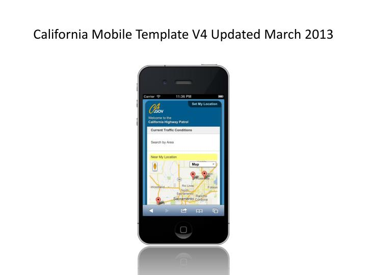 California Mobile Template V4 Updated March 2013