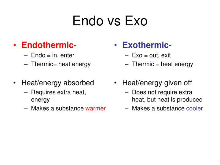 Endo vs Exo