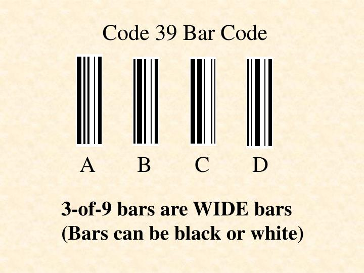 Code 39 Bar Code