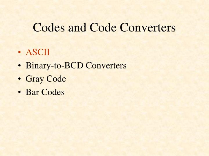 Codes and code converters1
