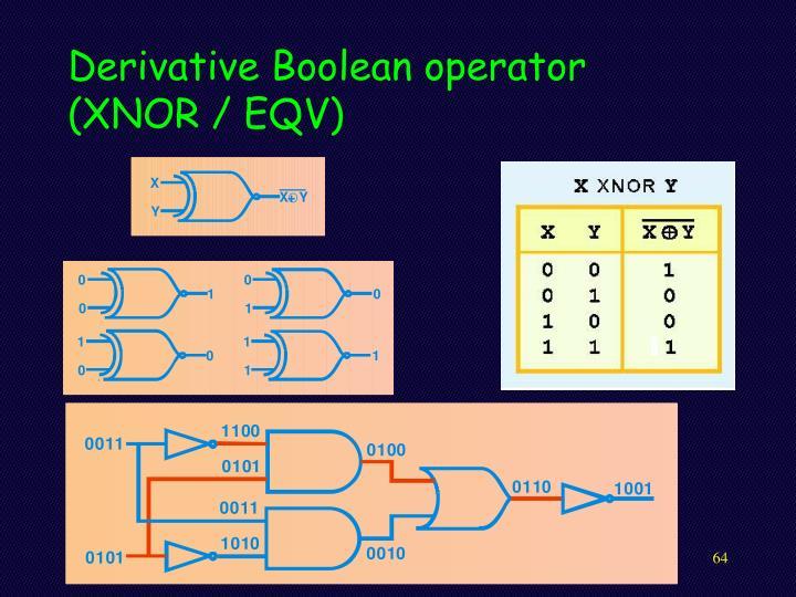 Derivative Boolean operator