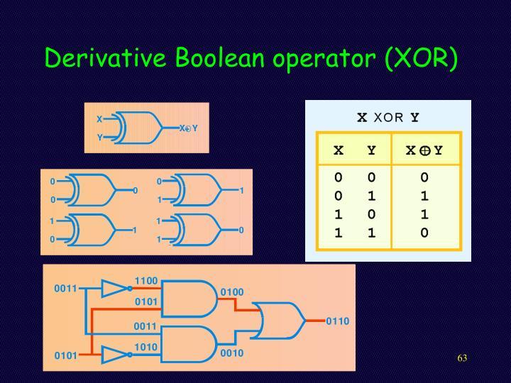 Derivative Boolean operator (XOR)