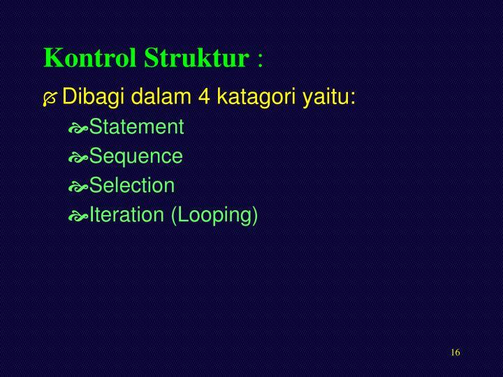 Kontrol Struktur