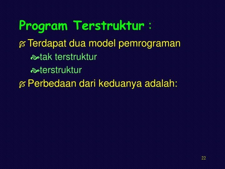 Program Terstruktur