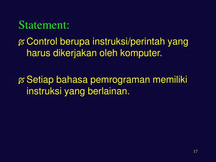 Statement: