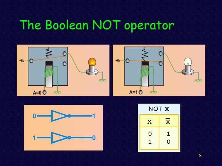 The Boolean NOT operator