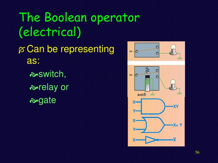 The Boolean operator (electrical)