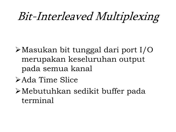 Bit-Interleaved Multiplexing