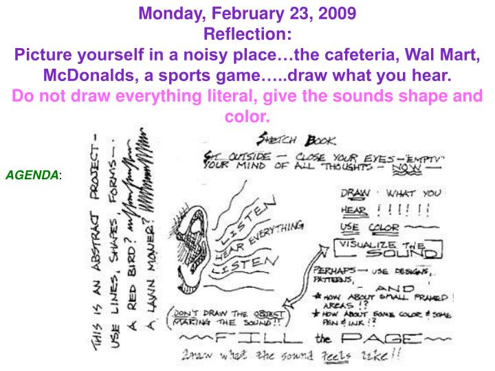 Monday, February 23, 2009
