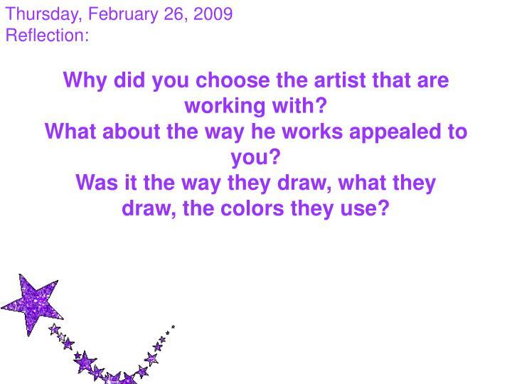 Thursday, February 26, 2009
