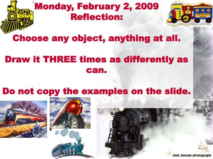 Monday, February 2, 2009