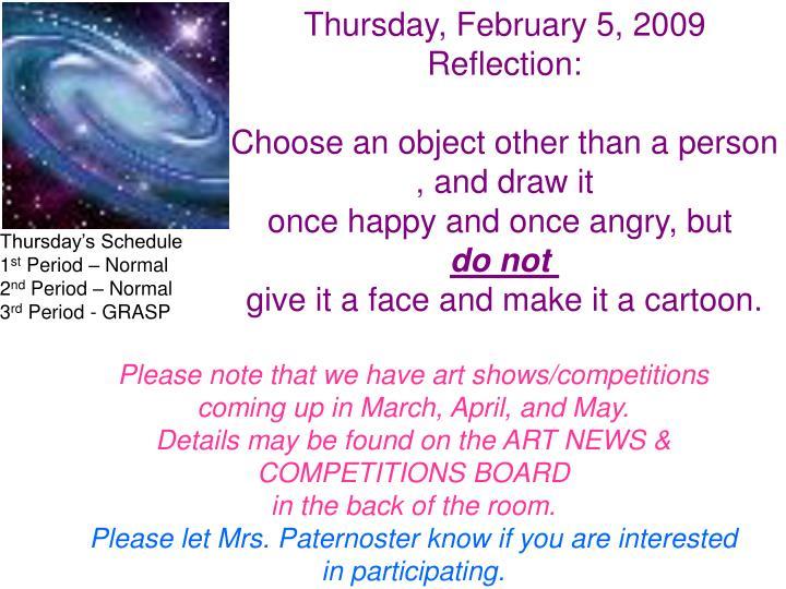 Thursday, February 5, 2009
