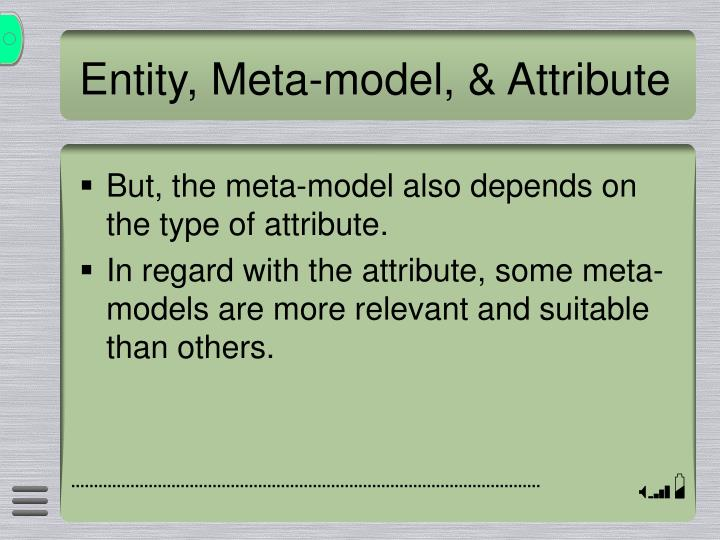 Entity, Meta-model, & Attribute