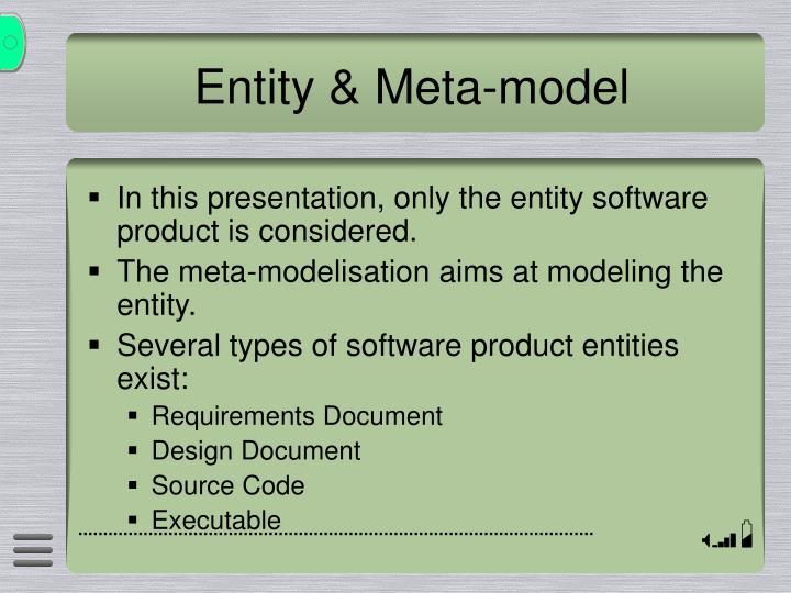Entity & Meta-model